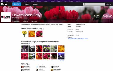 Screenshot of Flickr Page flickr.com - Flickr: Flowers Made Easy - captured Oct. 23, 2014