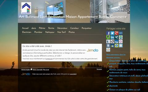 Screenshot of About Page jimdo.com - Mentions légales - Rénovation complet de Maison Appartement Bureaux et commerces - captured Sept. 16, 2014