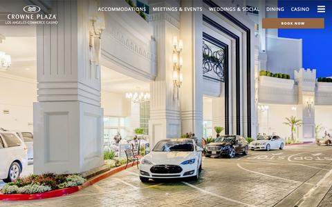 Screenshot of Services Page cpccla.com - Commerce CA Hotel - Amenities - Crowne Plaza Commerce Hotel & Casino - captured Sept. 30, 2018