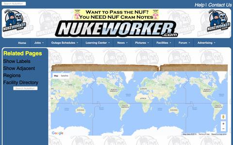 Screenshot of Maps & Directions Page nukeworker.com - Nuclear Facility Information, Maps, News, Weather, Directions, Pictures & Jobs - captured Dec. 5, 2016