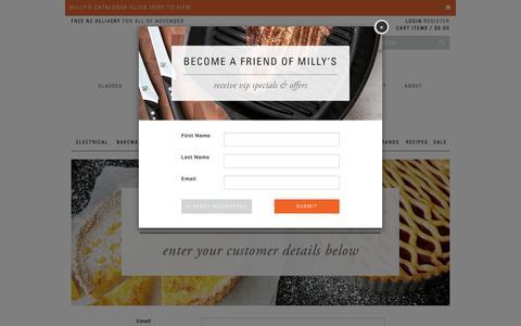Screenshot of Login Page millyskitchen.co.nz - Customer Login | Milly's Kitchenware - captured Nov. 18, 2016
