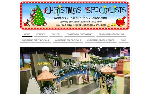 Screenshot of Home Page christmasspecialists.com - Christmas Specialists | Christmas Decorating Company - captured July 20, 2015