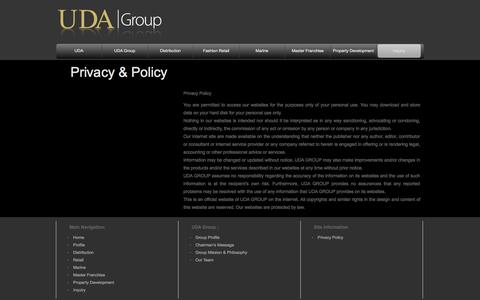 Screenshot of Privacy Page uda.ae - UDA Group > Privacy - captured Oct. 7, 2014