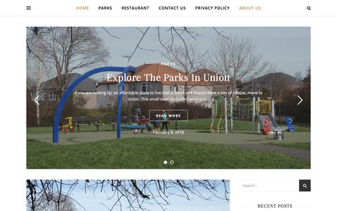 Screenshot of Home Page rivages-maudits.com - The Parks In Union - captured April 2, 2018