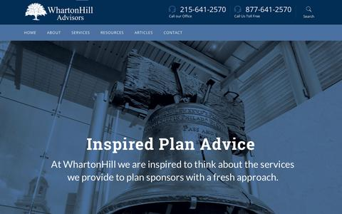 Screenshot of Home Page whartonhill.com - Home - Wharton Hill Advisors - captured Nov. 18, 2018
