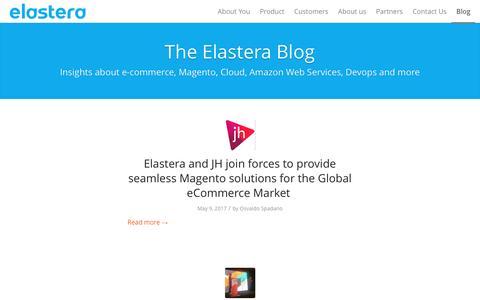 Screenshot of Blog elastera.com - The Elastera Blog   Magento Amazon Hosting, Managed by Elastera - captured May 15, 2017