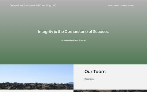 Screenshot of About Page cornerstone-environmental.com - About – Cornerstone Environmental Consulting, LLC - captured Sept. 29, 2018