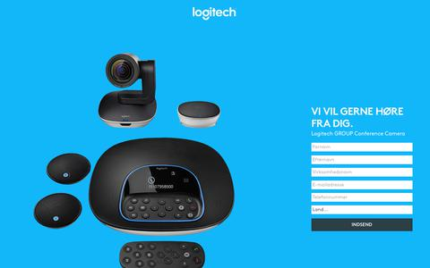 Screenshot of Landing Page logitech.com - Logitech GROUP Conference Camera | Contact Us - captured July 23, 2017