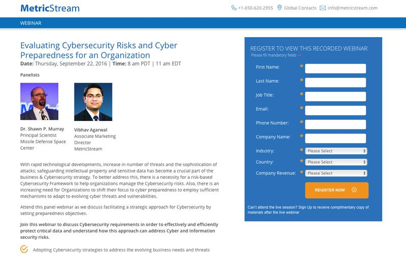 WEBINAR: Evaluating cyber security risks and Cyber Preparedness for an Organization