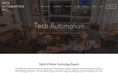 Screenshot of Home Page tech-automation.com - Tech Automation Inc. - captured Feb. 28, 2016