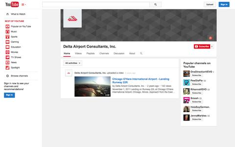 Screenshot of YouTube Page youtube.com - Delta Airport Consultants, Inc.  - YouTube - captured Oct. 23, 2014
