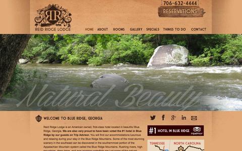 Screenshot of Home Page reidridgelodge.com - Reid Ridge Lodge | Luxury Hotel in Blue Ridge, Georgia - captured Jan. 11, 2016