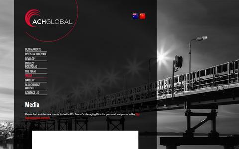 Screenshot of Press Page achglobal.com.au - Media - ACH Global - captured Dec. 22, 2015