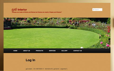 Screenshot of Login Page lakinterior.lk - Lak Interior - Log in | ලක් Interior - captured Sept. 29, 2014