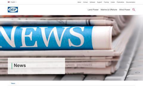 Screenshot of Press Page deif.com - News   DEIF- Power efficiency   DEIF - captured June 3, 2017
