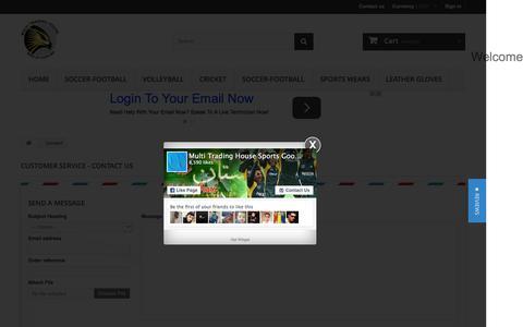 Screenshot of Contact Page sialkotshop.com - Contact us - Sialkot shop - captured Feb. 10, 2016