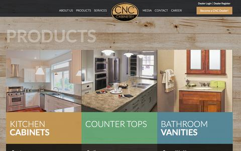 Screenshot of Products Page cncassociates.com - Products «  CNC Associates - captured Jan. 23, 2016