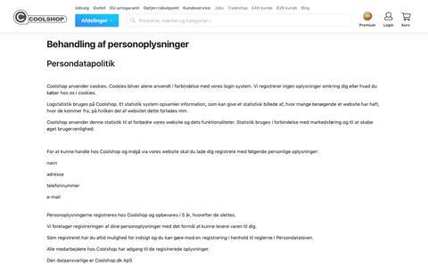 Behandling af personoplysninger - Coolshop