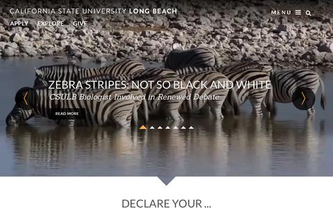 Screenshot of Home Page csulb.edu - California State University, Long Beach - captured Oct. 2, 2015