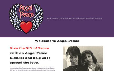 Screenshot of Home Page angelpeace.com - Angel Peace - captured May 30, 2017