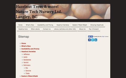 Screenshot of Site Map Page naturetechnursery.com - Sitemap - Nature Tech Nursery - captured June 19, 2017