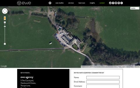 Screenshot of Contact Page Maps & Directions Page ewe.agency - Contact | ewe agency - captured Oct. 22, 2014