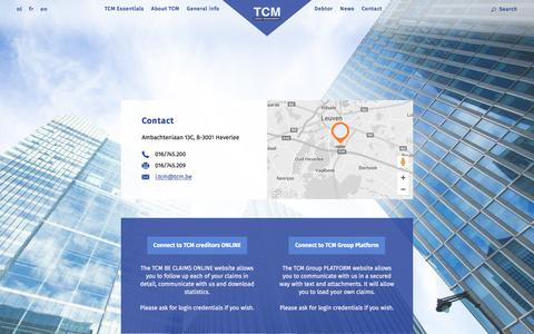 Screenshot of Login Page tcm.be - Login | TCM - captured Nov. 29, 2016