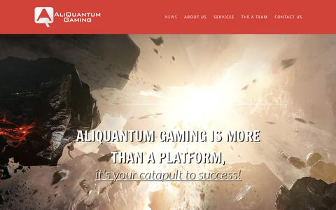 Screenshot of Home Page aliquantum-gaming.com - AliQuantum Gaming   The ultimate turn-key solution! - captured July 29, 2018
