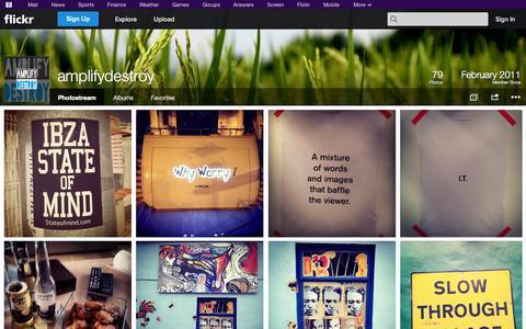Screenshot of Flickr Page flickr.com - Flickr: amplifydestroy's Photostream - captured Oct. 23, 2014