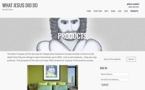 Screenshot of Products Page whatjesusdiddo.com - | - captured Aug. 4, 2015