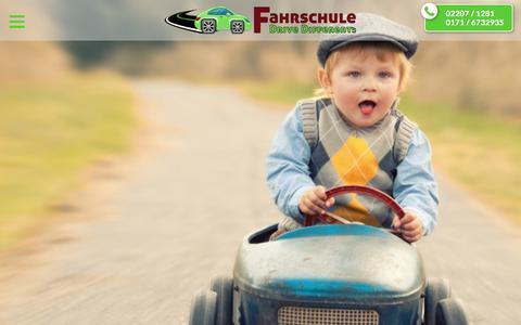 Screenshot of Home Page drive-differently.de - Drive Differently | Deine Fahrschule in Kürten - captured July 12, 2018
