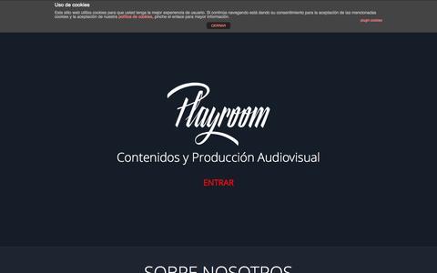 Screenshot of Home Page theplayroom.es - The Playroom | Creacion y Produccion de Contenidos Audiovisuales - captured Oct. 9, 2014