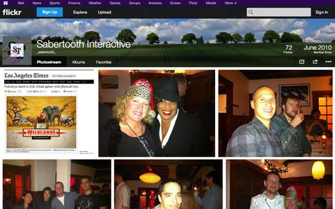 Screenshot of Flickr Page flickr.com - Flickr: _sabertooth_'s Photostream - captured Oct. 25, 2014