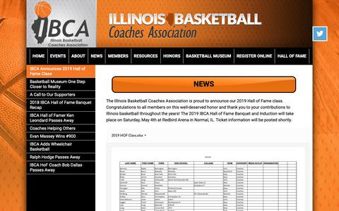 Screenshot of Press Page ibcaillinois.org - Illinois Basketball Coaches Association - captured Dec. 19, 2018