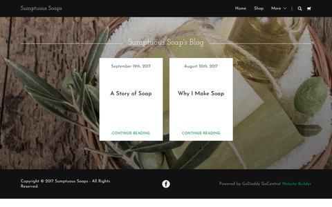 Screenshot of Blog sumptuoussoaps.com - Blog   Sumptuous Soaps - captured June 30, 2018