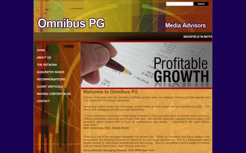 Screenshot of Home Page omnibuspg.com - Omnibus PG profitable growth strategy consultant - captured Jan. 30, 2015