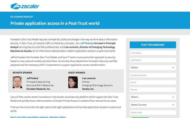 Private Application Access   Zscaler