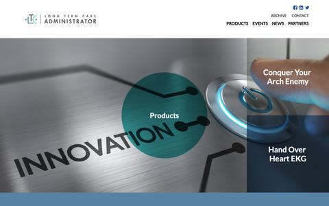 Screenshot of Products Page ltcadministrator.com - Innovative Products | LTCadministrator.com | Long Term Care | Short Term Care - captured Sept. 25, 2018