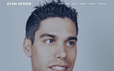 Screenshot of About Page ryanspoon.com - About — Ryan Spoon - captured June 13, 2016