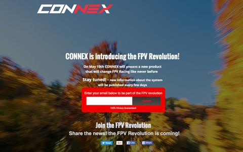 Screenshot of Landing Page amimon.com - Join the FPV Revolution - captured April 27, 2016