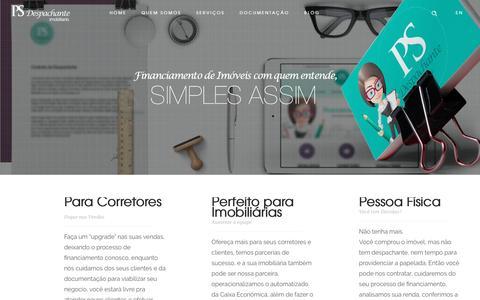 Screenshot of Home Page psdespachante.com.br - Despachante Imobiliario Curitiba - Ps Despachante - captured Oct. 12, 2016