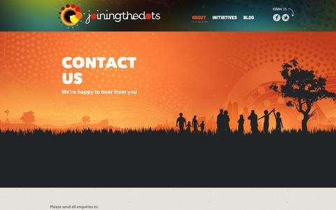Screenshot of Contact Page joiningthedots.org - Joining The Dots | Contact Us - captured Sept. 30, 2014