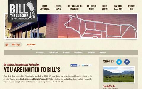 Screenshot of Locations Page billthebutcher.com - Locations :: Bill the Butcher, Inc. (BILB) - captured Sept. 13, 2014