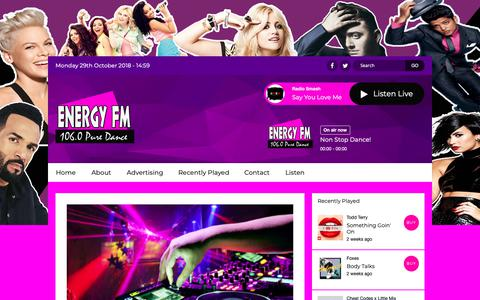 Screenshot of About Page dancemusicradio.net - About Us | Energy FM Tenerife - captured Oct. 29, 2018