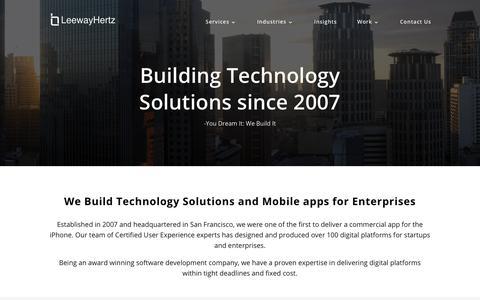 Screenshot of About Page leewayhertz.com - Software Development Company   San Francisco   NYC   Chicago - captured July 18, 2018