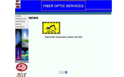 Screenshot of Press Page foservice.com - FIBER OPTIC SERVICES - NEWS - captured Feb. 10, 2016