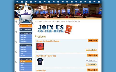 Screenshot of Products Page fleetlanding.net captured Oct. 6, 2014