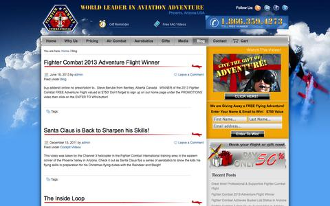 Screenshot of Blog fightercombat.com - Blog | Fighter Combat International - captured Oct. 5, 2014