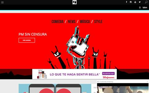Screenshot of Home Page pmcanal5.com - PM Canal 5 - captured Aug. 22, 2016