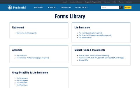 Forms | Prudential Financial